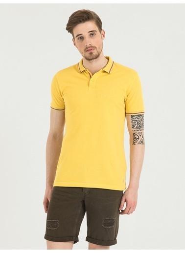Loft Polo Yaka Tişört Sarı